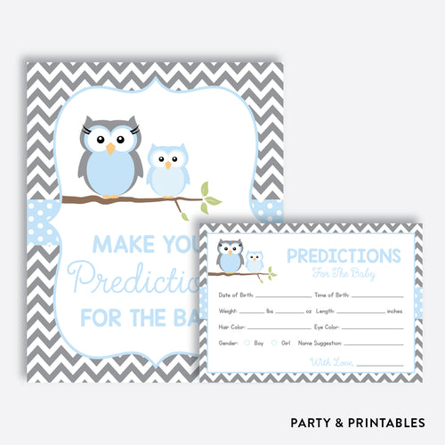 Owl Predictions For The Baby / Non-Personalized / Instant Download (SBS.43)