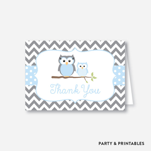 Owl Baby Shower Thank You / Non-Personalized / Instant Download (SBS.43)
