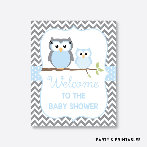 Owl Welcome Sign / Non-Personalized / Instant Download (SBS.43)