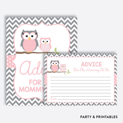 Owl Advice For The Mommy To Be / Non-Personalized / Instant Download (SBS.44)