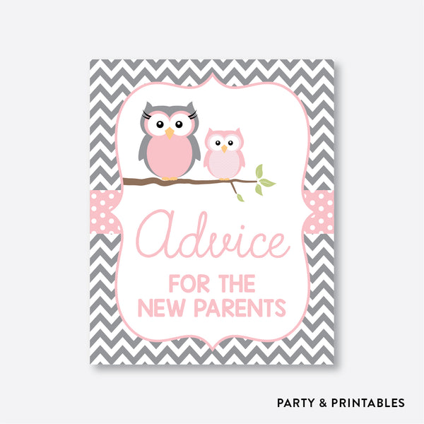 Owl Advice For The Mommy To Be / Non-Personalized / Instant Download (SBS.44), party printables - Party and Printables