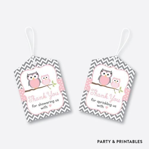 Owl Favor Tags / Non-Personalized / Instant Download (SBS.44)