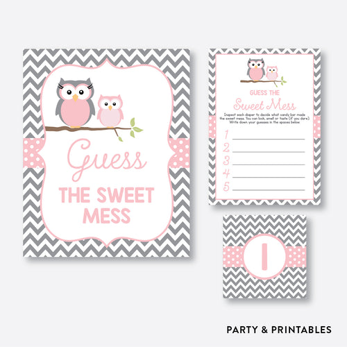 Owl Guess The Sweet Mess / Non-Personalized / Instant Download (SBS.44)