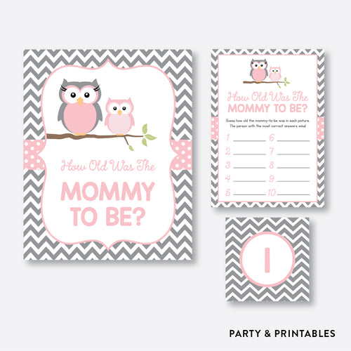 Owl How Old Was Mommy To Be / Non-Personalized / Instant Download (SBS.44)