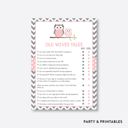Owl Old Wives Tales / Non-Personalized / Instant Download (SBS.44)