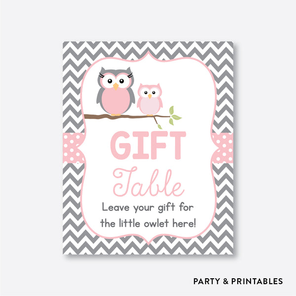 Owl Party Signs / Non-Personalized / Instant Download (SBS.44)