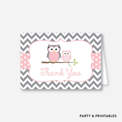 Owl Baby Shower Thank You / Non-Personalized / Instant Download (SBS.44)