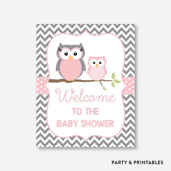 Owl Welcome Sign / Non-Personalized / Instant Download (SBS.44)