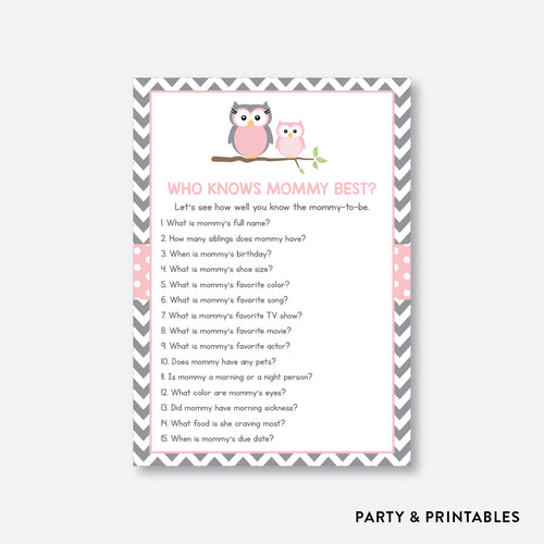 Owl Who Knows Mommy Best / Non-Personalized / Instant Download (SBS.44)
