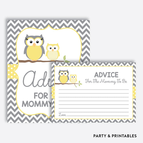 Owl Advice For The Mommy To Be / Non-Personalized / Instant Download (SBS.45)