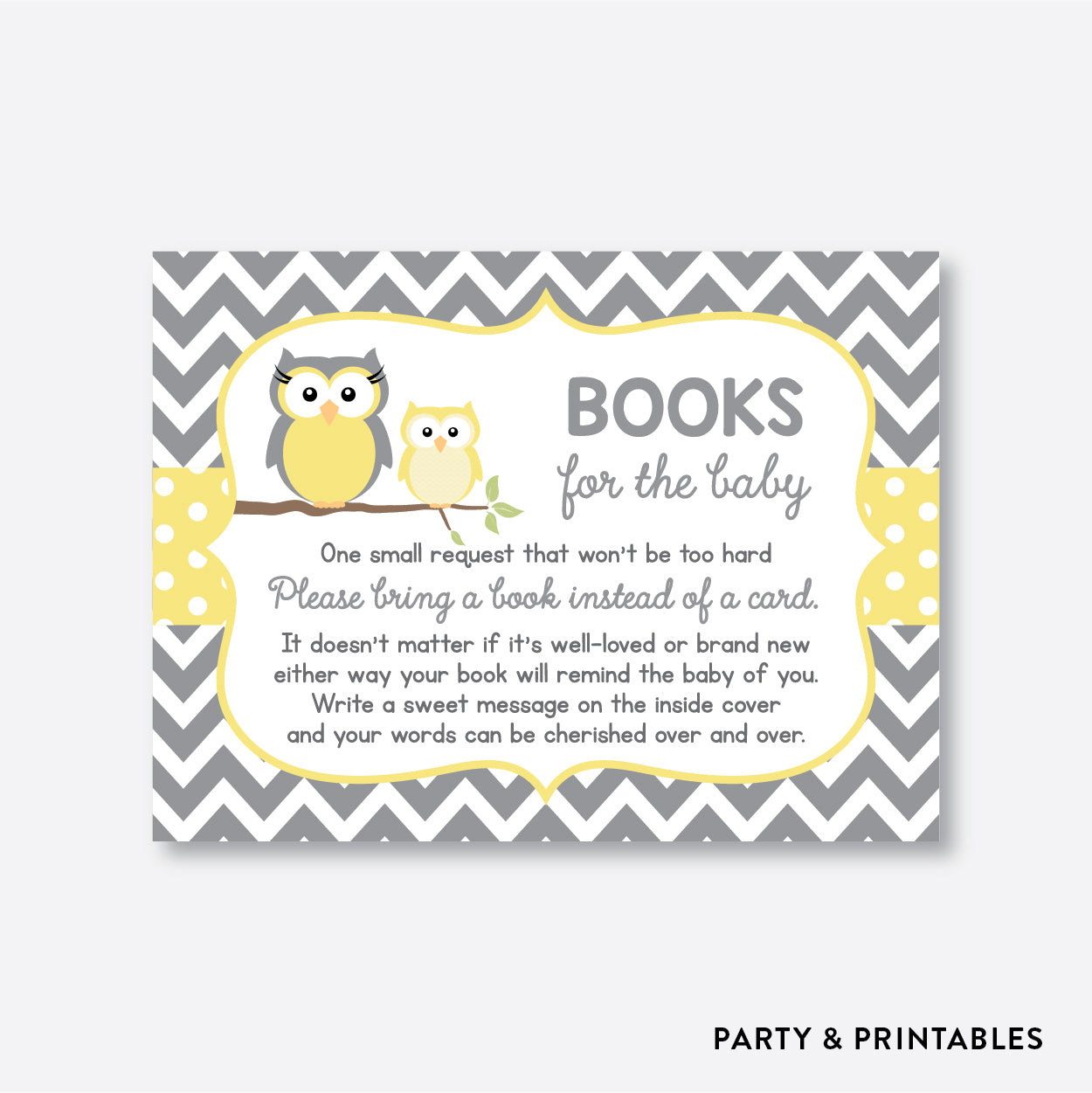 Owl Books For The Baby / Non-Personalized / Instant Download (SBS.45)