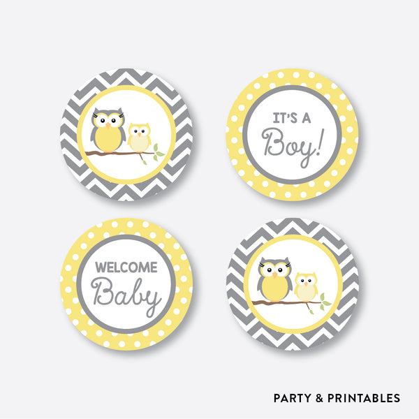 Owl Cupcake Toppers / Non-Personalized / Instant Download (SBS.45)