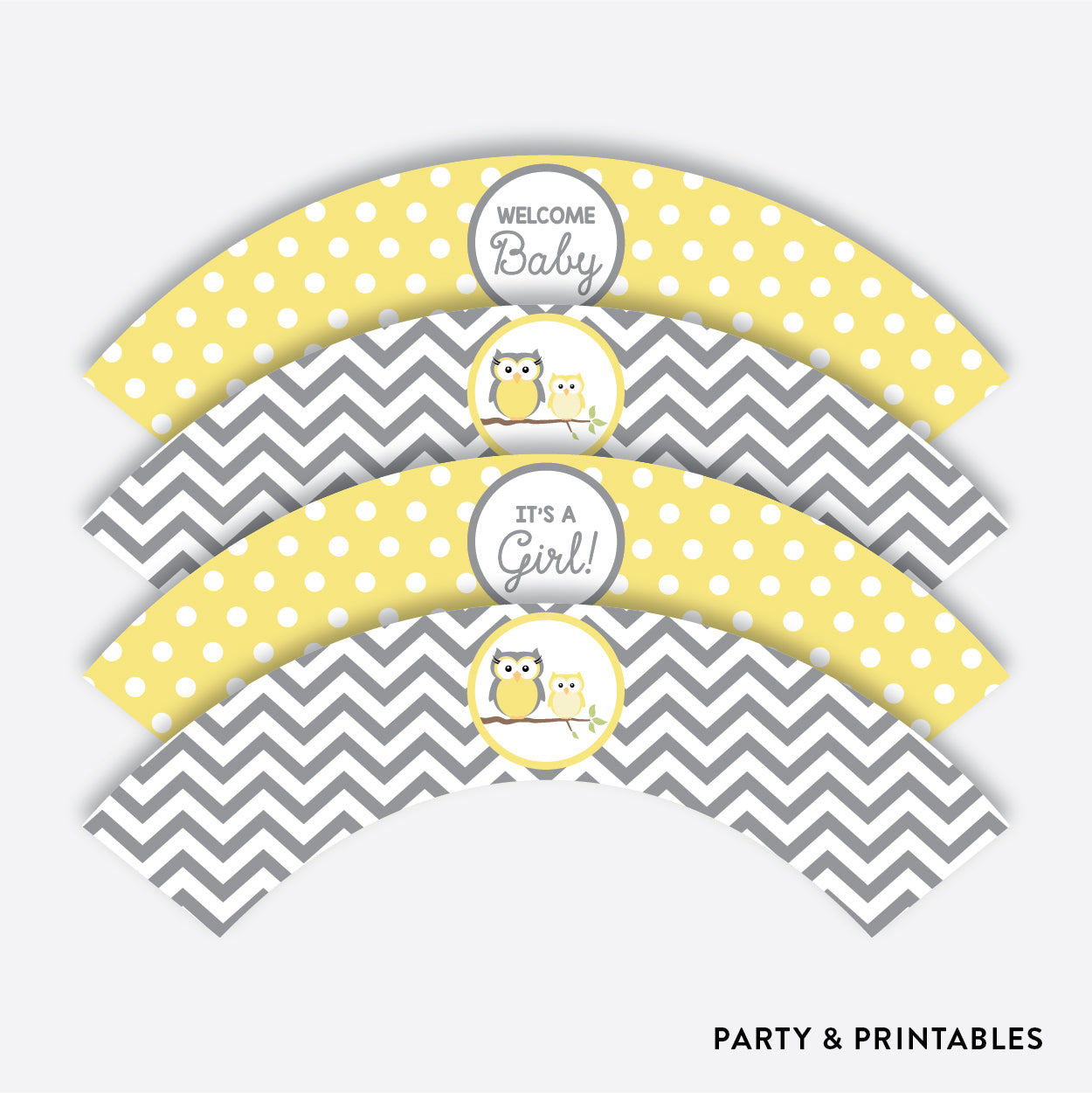 Owl Cupcake Wrappers / Non-Personalized / Instant Download (SBS.45), party printables - Party and Printables
