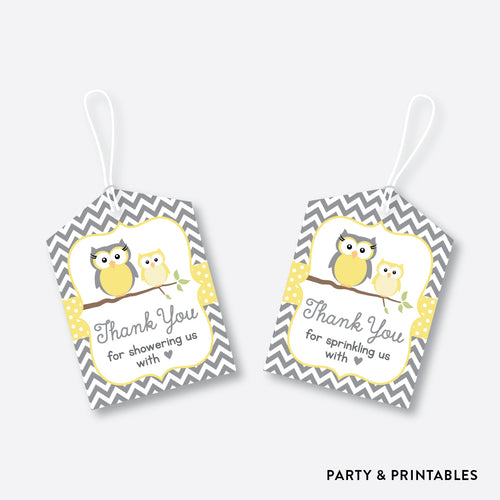 Owl Favor Tags / Non-Personalized / Instant Download (SBS.45)