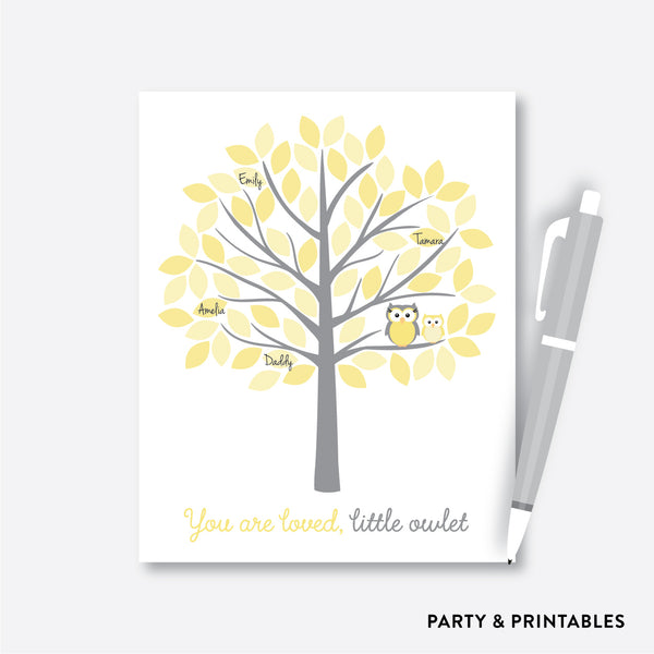 Owl Guestbook Alternative / Non-Personalized / Instant Download (SBS.45)