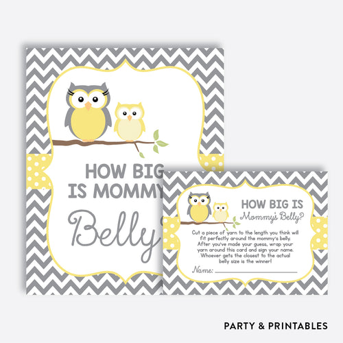 Owl How Big is Mommy's Belly / Non-Personalized / Instant Download (SBS.45)