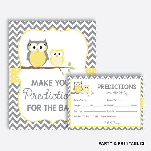 Owl Predictions For The Baby / Non-Personalized / Instant Download (SBS.45)