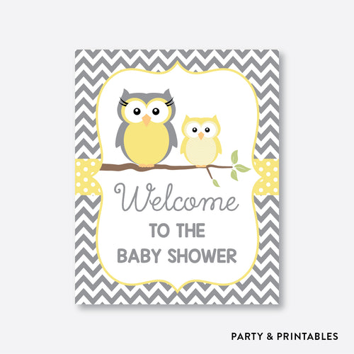 Owl Welcome Sign / Non-Personalized / Instant Download (SBS.45)