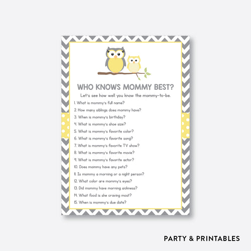 Owl Who Knows Mommy Best / Non-Personalized / Instant Download (SBS.45)