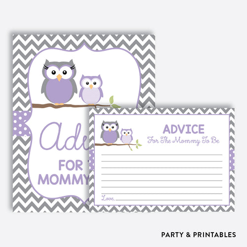 Owl Advice For The Mommy To Be / Non-Personalized / Instant Download (SBS.46)