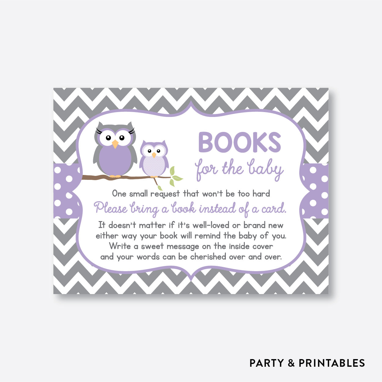 Owl Books For The Baby / Non-Personalized / Instant Download (SBS.46)