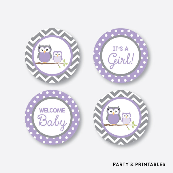 Owl Cupcake Toppers / Non-Personalized / Instant Download (SBS.46)