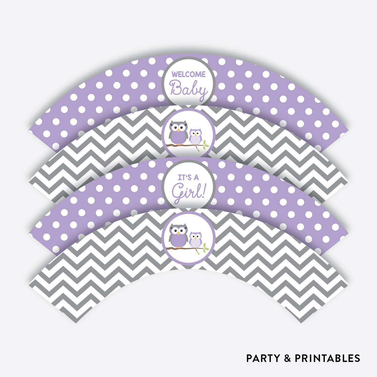 Owl Cupcake Wrappers / Non-Personalized / Instant Download (SBS.46)