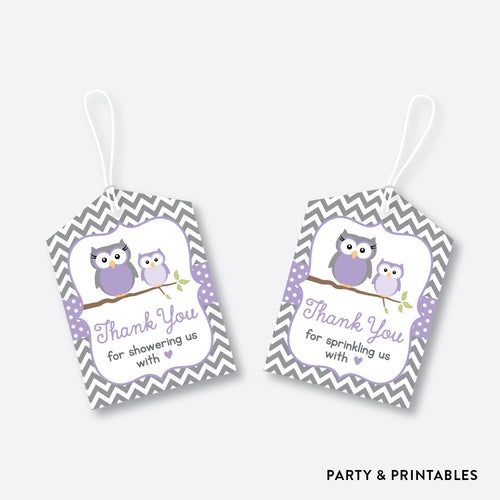Owl Favor Tags / Non-Personalized / Instant Download (SBS.46)