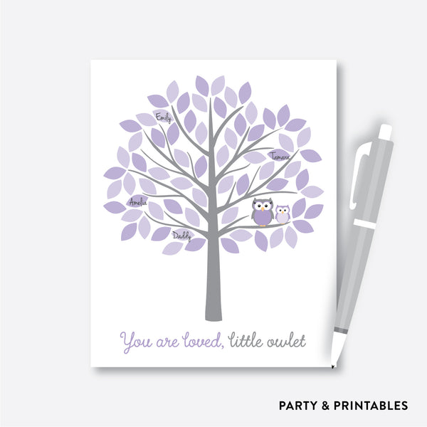 Owl Guestbook Alternative / Non-Personalized / Instant Download (SBS.46)