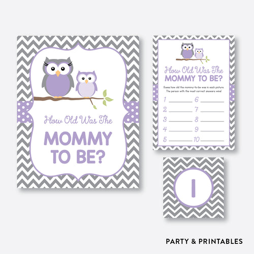 Owl How Old Was Mommy To Be / Non-Personalized / Instant Download (SBS.46)