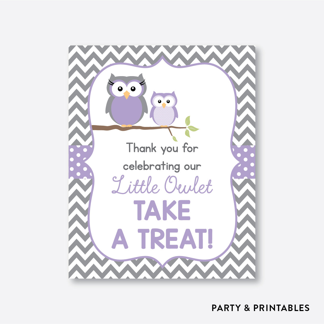 Owl Party Signs / Non-Personalized / Instant Download (SBS.46)