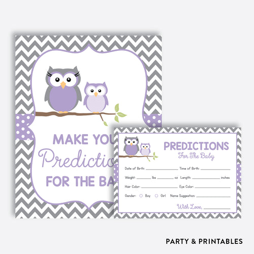 Owl Predictions For The Baby / Non-Personalized / Instant Download (SBS.46)