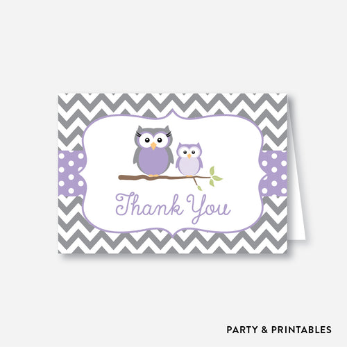 Owl Baby Shower Thank You / Non-Personalized / Instant Download (SBS.46)
