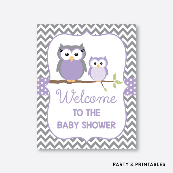 Owl Welcome Sign / Non-Personalized / Instant Download (SBS.46)