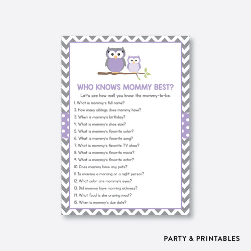 Owl Who Knows Mommy Best / Non-Personalized / Instant Download (SBS.46)