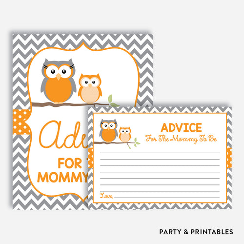 Owl Advice For The Mommy To Be / Non-Personalized / Instant Download (SBS.47)