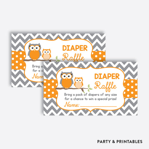 Owl Diaper Raffle / Non-Personalized / Instant Download (SBS.47)