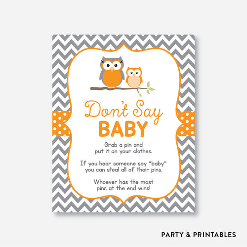 Owl Don't Say Baby / Non-Personalized / Instant Download (SBS.47)