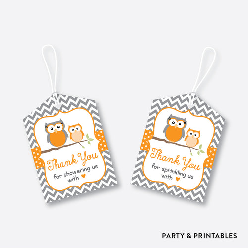 Owl Favor Tags / Non-Personalized / Instant Download (SBS.47)