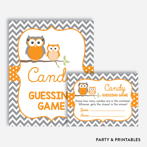 Owl Guess How Many Candies / Non-Personalized / Instant Download (SBS.47)