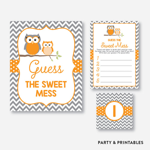 Owl Guess The Sweet Mess / Non-Personalized / Instant Download (SBS.47)