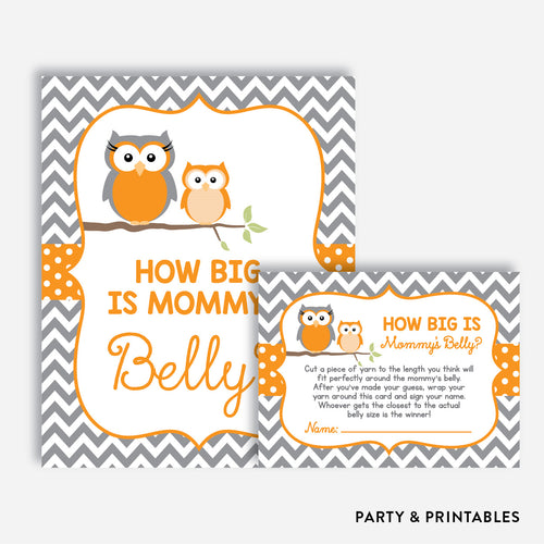 Owl How Big is Mommy's Belly / Non-Personalized / Instant Download (SBS.47)