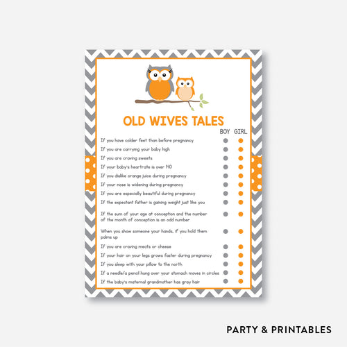 Owl Old Wives Tales / Non-Personalized / Instant Download (SBS.47)