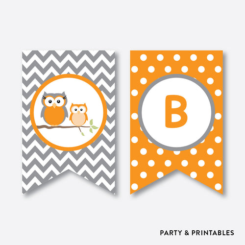 Owl Party Banner / Baby Shower Banner / Non-Personalized / Instant Download (SBS.47)