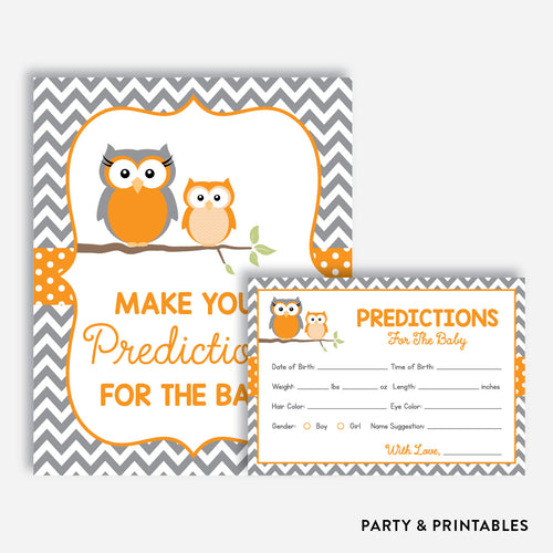 Owl Predictions For The Baby / Non-Personalized / Instant Download (SBS.47)