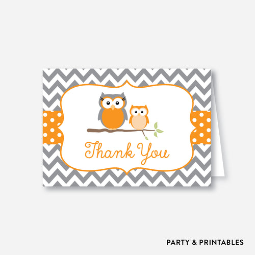 Owl Baby Shower Thank You / Non-Personalized / Instant Download (SBS.47)