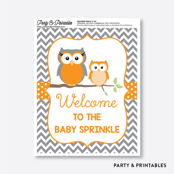 Owl Welcome Sign / Non-Personalized / Instant Download (SBS.47)