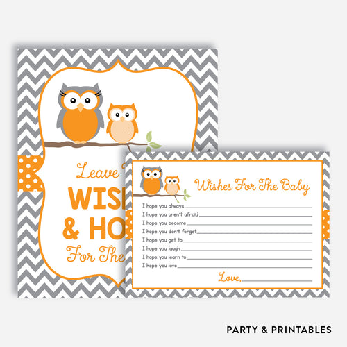 Owl Wishes For The Baby / Non-Personalized / Instant Download (SBS.47)