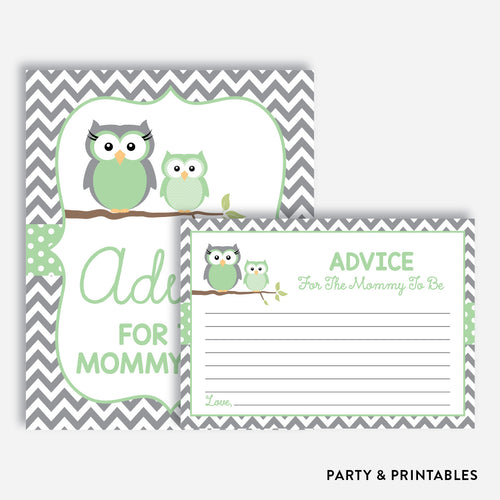 Owl Advice For The Mommy To Be / Non-Personalized / Instant Download (SBS.48)