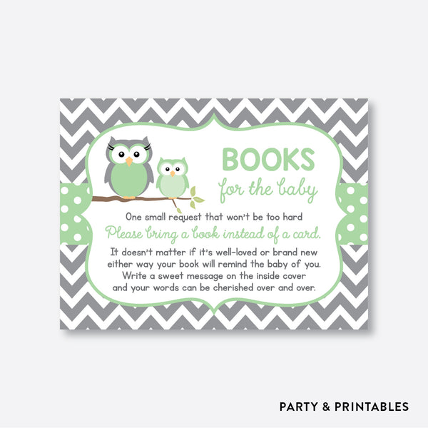 Owl Books For The Baby / Non-Personalized / Instant Download (SBS.48)